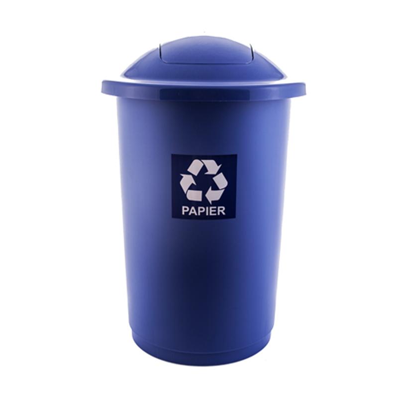 Atkritumu tvertne TOPBIN papīram, zilā krāsā, 50 l