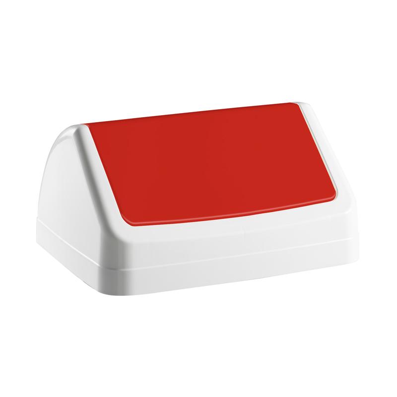 Vāks atkritumu tvertnei PATTY, sarkanā krāsā
