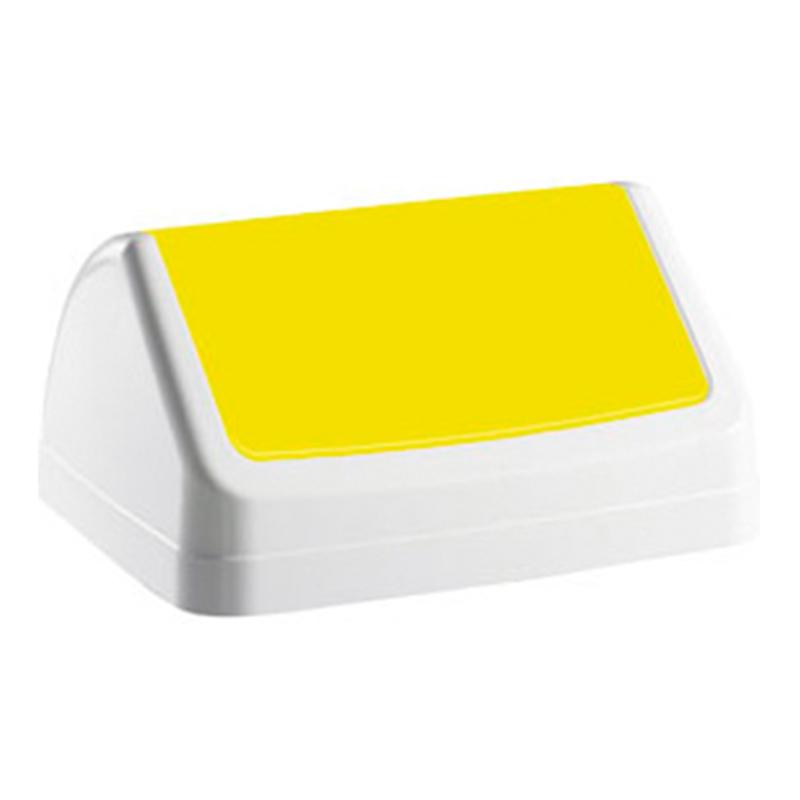 Vāks atkritumu tvertnei PATTY, dzeltenā krāsā