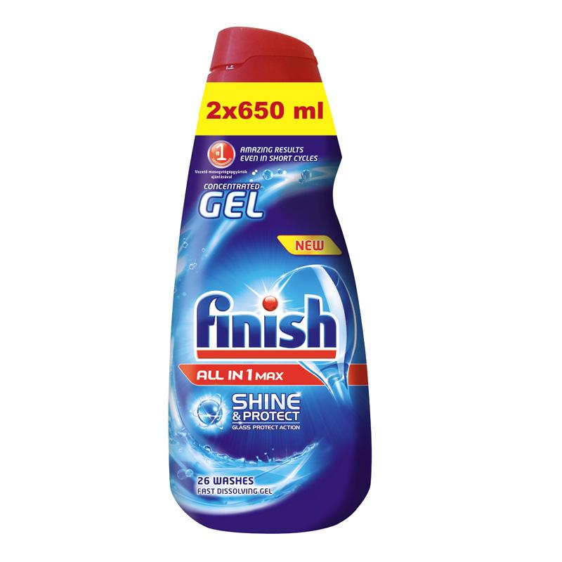 Multifunkcionāla želeja trauku mazgāšanas mašīnai FINISH, 2x650 ml