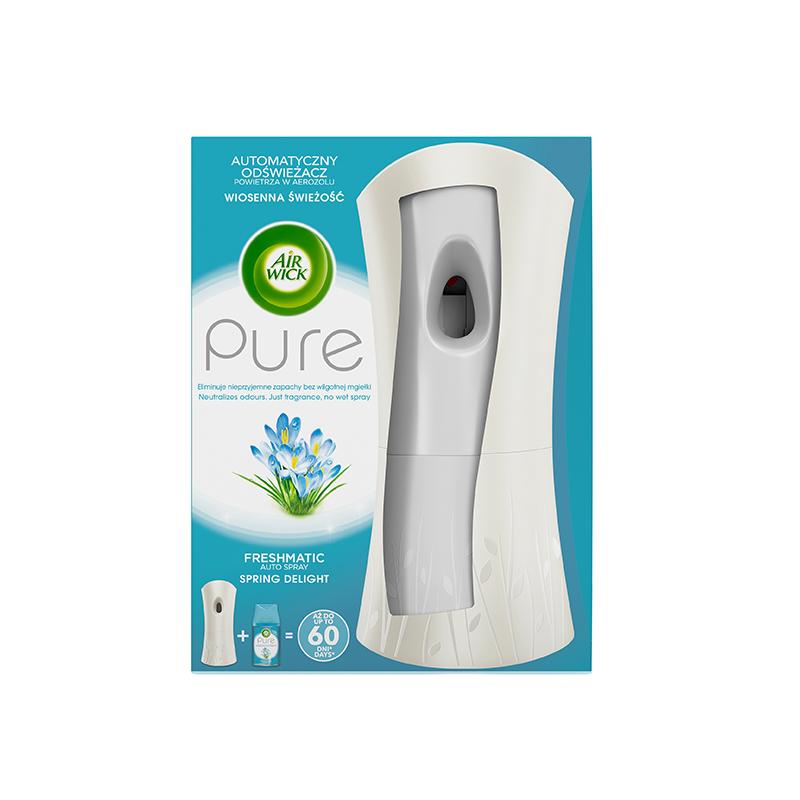Gaisa atsvaidzinātāja ierīce AIR WICK Freshmatic ar Pure Spring Delight rezervi, 250 ml