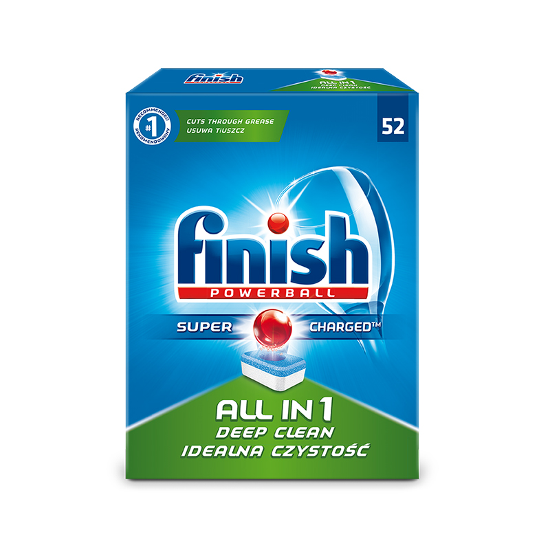 Tabletes trauku mazgāšanas mašīnām FINISH ALL in 1 Powerball, 52 tabletes