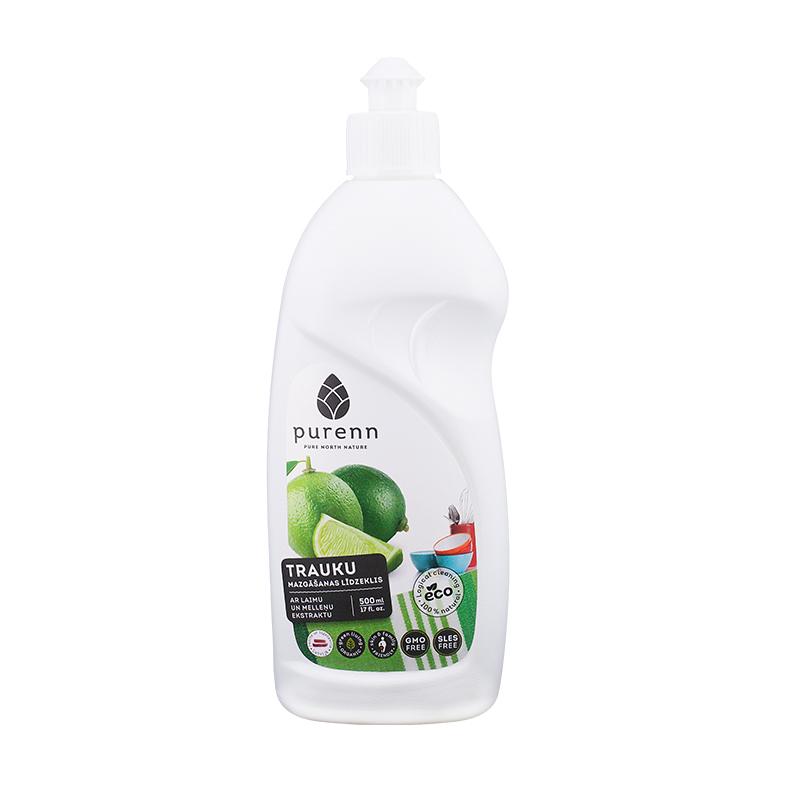 Trauku mazgāšanas līdzeklis PURENN ar mellenēm-laimu, Eco, 500 ml