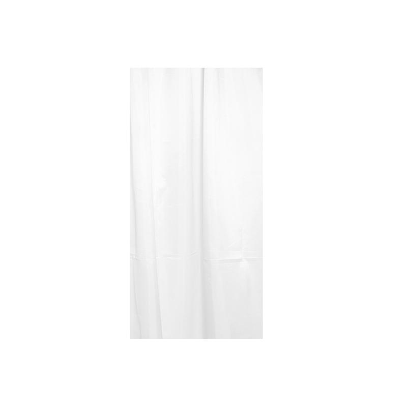 Dušas aizkari 4LIVING, 180x200 cm, poliesters, baltā krāsā