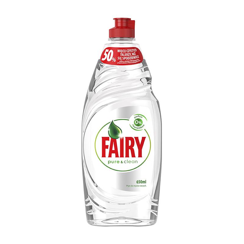 Trauku mazgāšanas līdzeklis FAIRY Pure&Clean, 650 ml