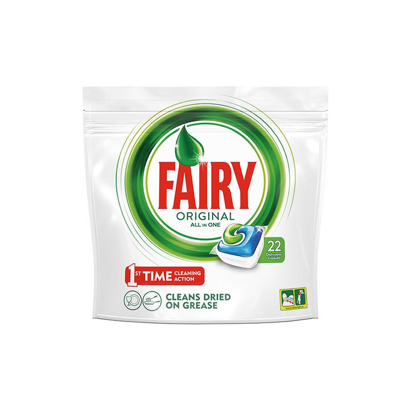 Kapsulas trauku mazgāšanas mašīnām FAIRY ALL in 1, zaļas, 22 kapsulas