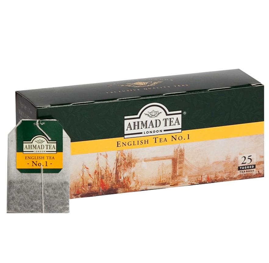 Melnā tēja AHMAD ENGLISH TEA No.1, 25 maisiņi x 2 g paciņā