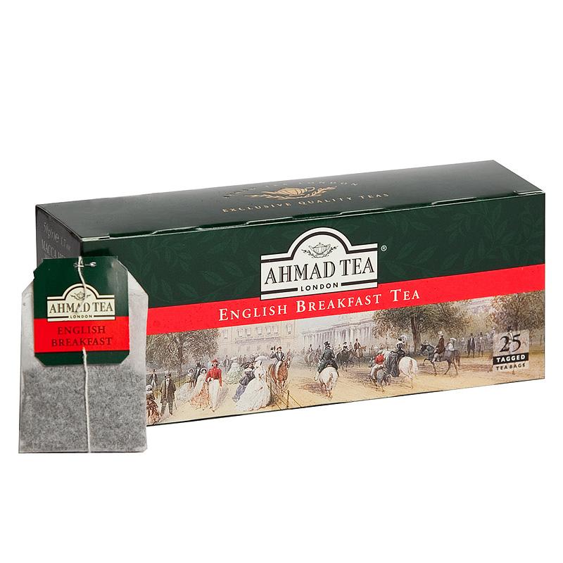 Melnā tēja AHMAD ENGLISH BREAKFAST, 25 maisiņi x 2 g paciņā