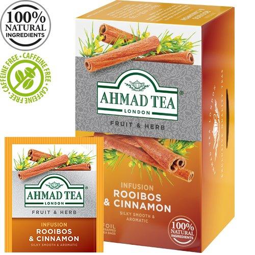 Tēja AHMAD Alu ROOIBOS & CINNAMON, 20 maisiņi x1.5 g paciņā