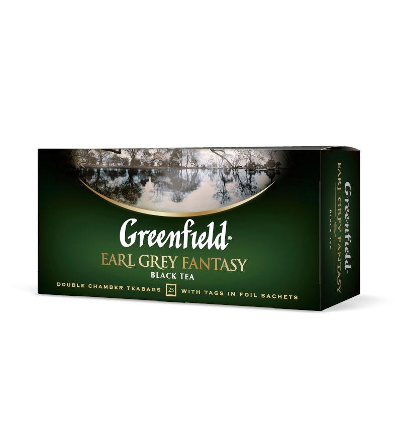 Melnā tēja GREENFIELD EARL GREY FANTASY, 25 x 2 g maisiņi paciņā
