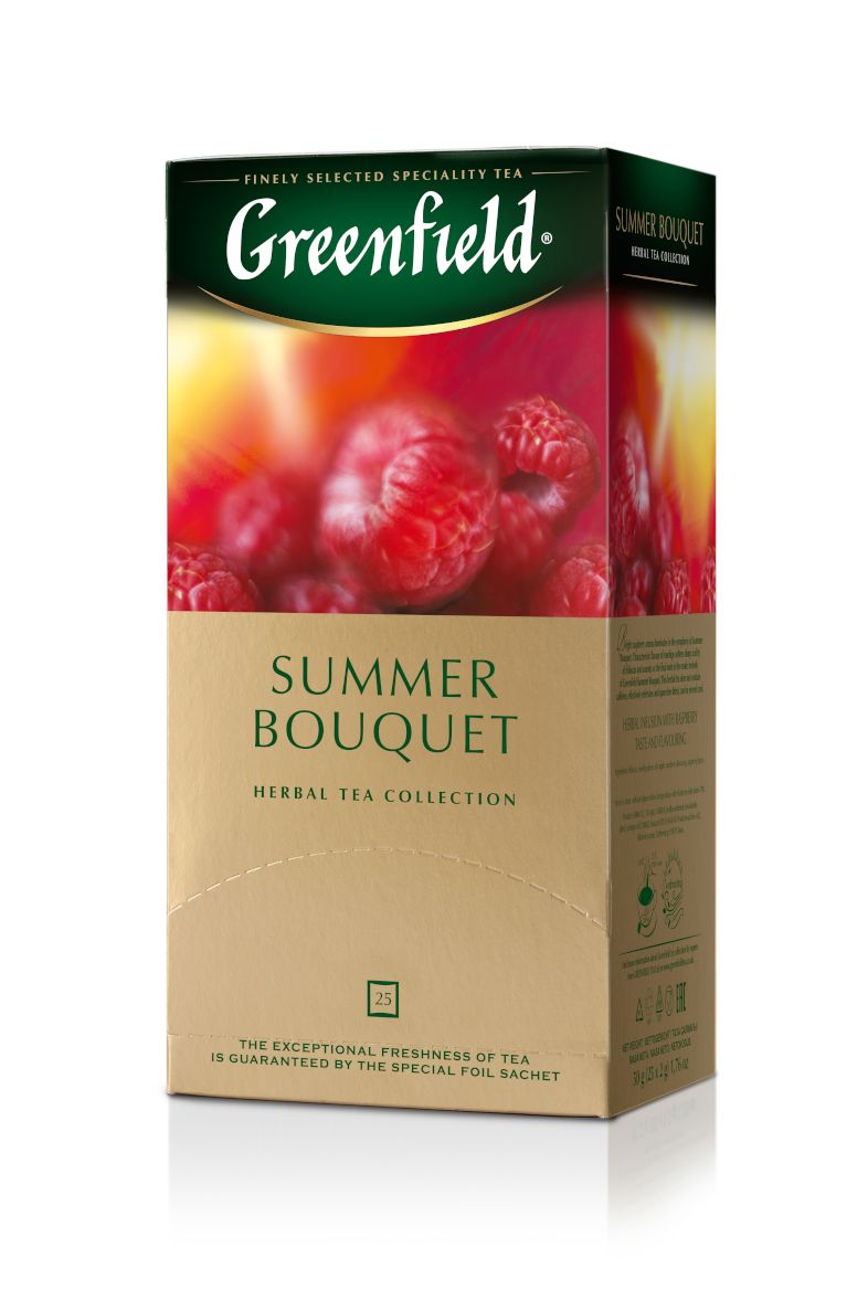 Zāļu tēja GREENFIELD SUMMER BOUQUET, 25 x 2 g maisiņi paciņā