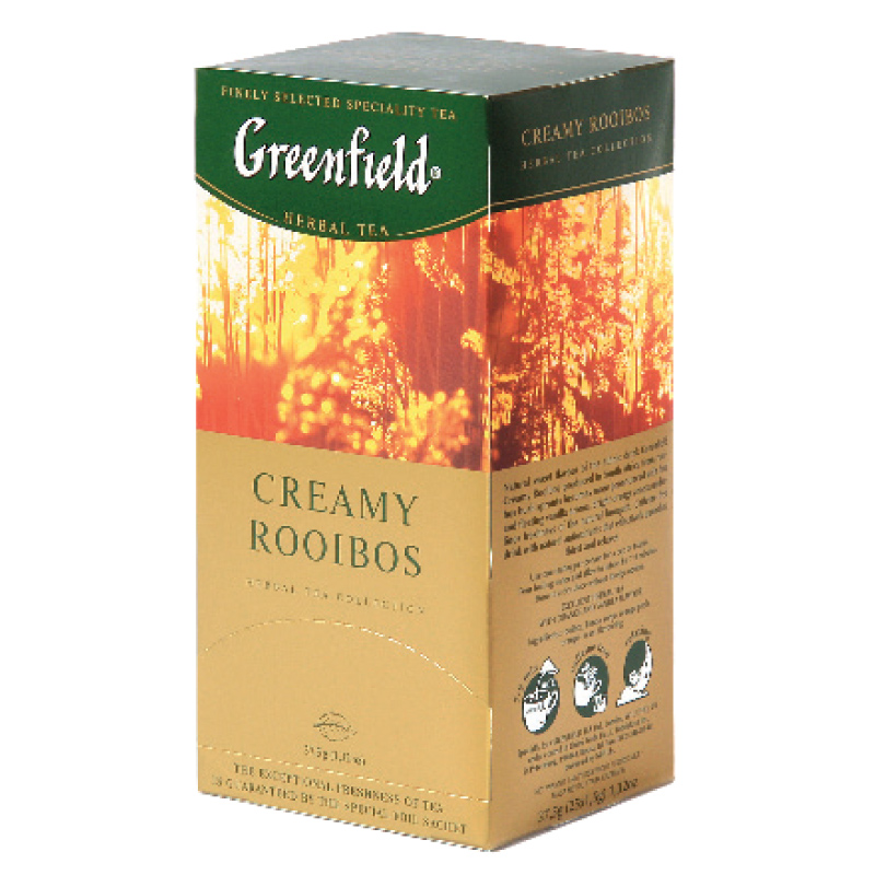 Zāļu tēja GREENFIELD CREAMY ROOIBOS, 25 x 1.5 g maisiņi paciņā