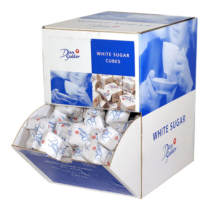 Cukurs graudu DAN SUKKER, baltais, dekoratīvā kārbā, 7 g (150 gab./1.05 kg)