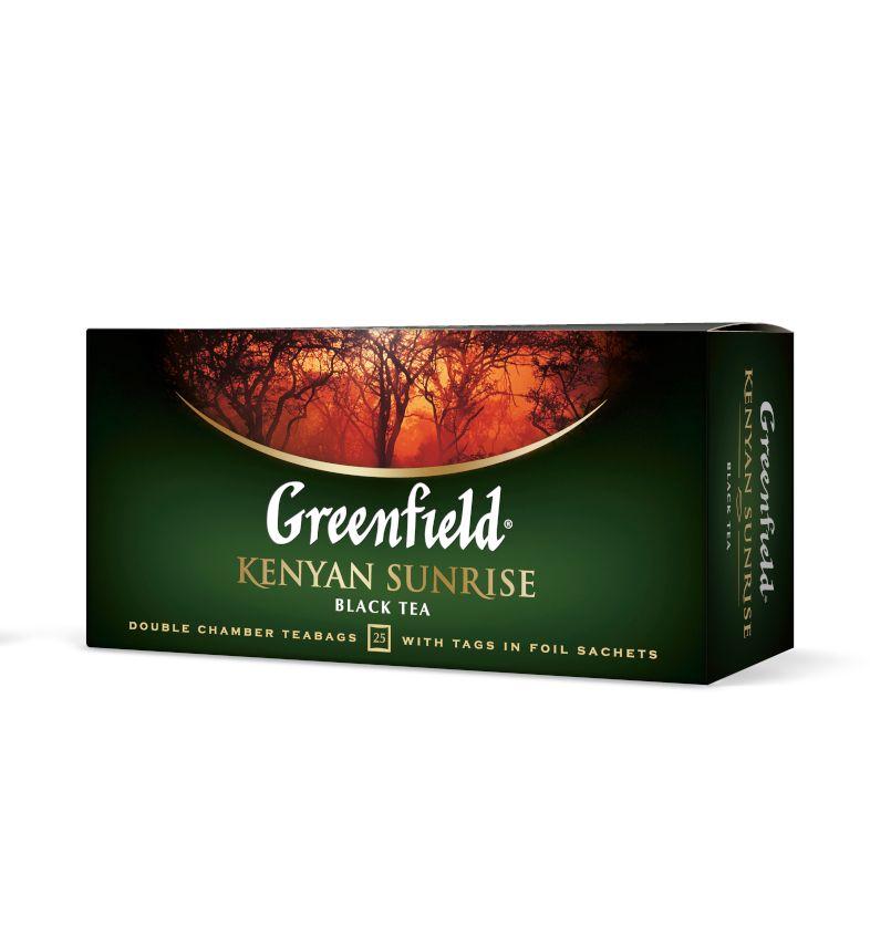 Melnā tēja GREENFIELD KENYAN SUNRISE, 25 x 2.5 g maisiņi paciņā