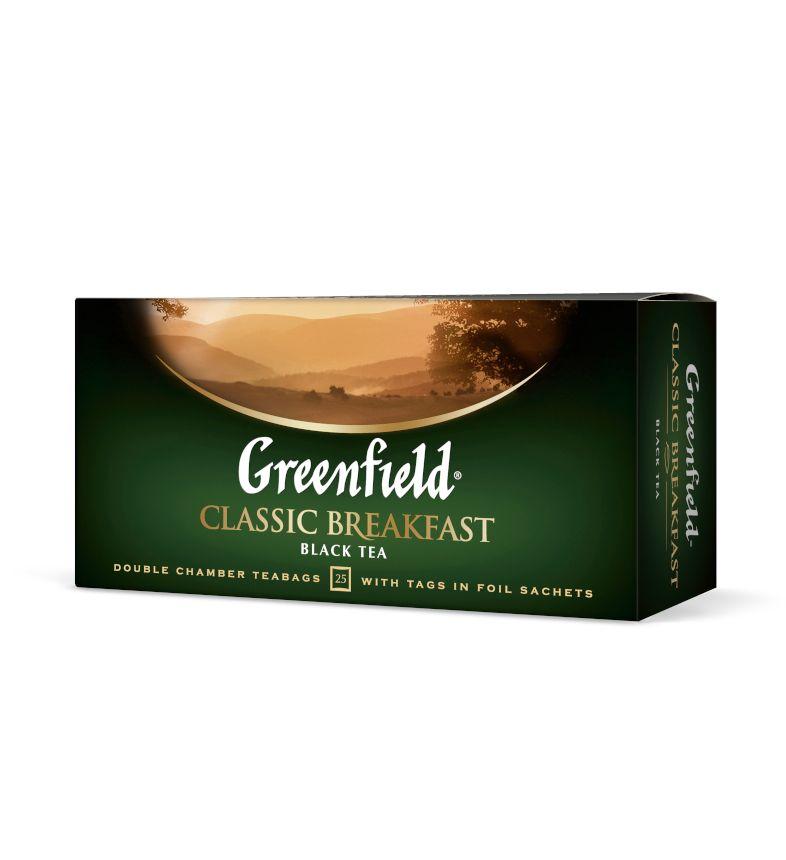 Melnā tēja GREENFIELD CLASSIC BREAKFAST, 25 x 2 g maisiņi paciņā
