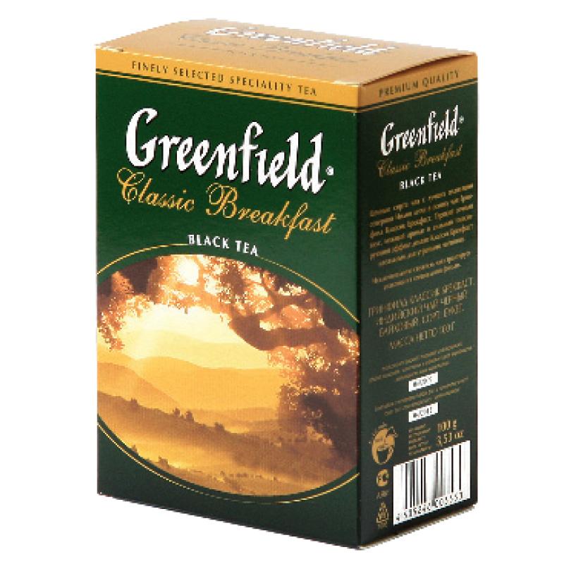 Beramā melnā tēja GREENFIELD CLASSIC BREAKFAST, 100 g