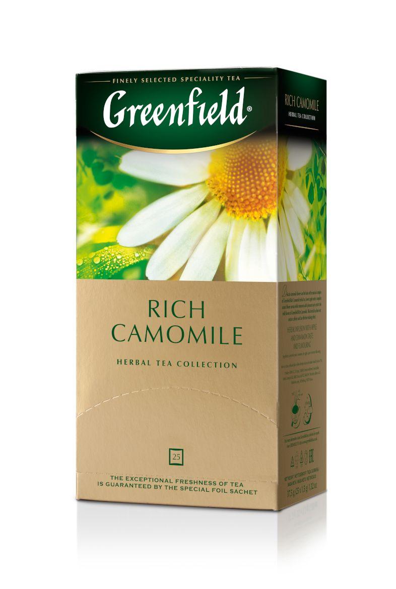 Zāļu tēja GREENFIELD RICH CAMOMILE, 25 x 1.5 g maisiņi paciņā