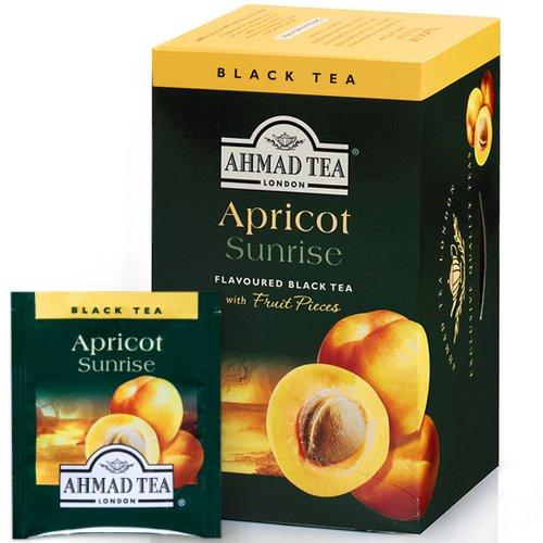 Tēja AHMAD Alu Aprikožu saullēkts, 20 x 2 g maisiņi paciņā