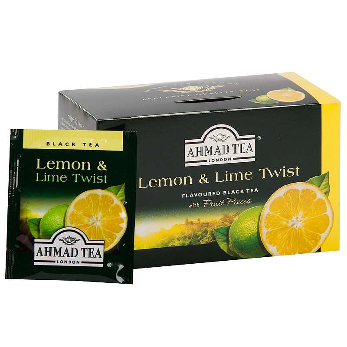 Tēja AHMAD Alu Citrona un Laima tvists, 20 x 2 g maisiņi paciņā