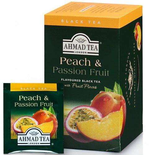 Tēja AHMAD Alu PEACH & PASSION FRUIT, 20 x 2 g maisiņi paciņā