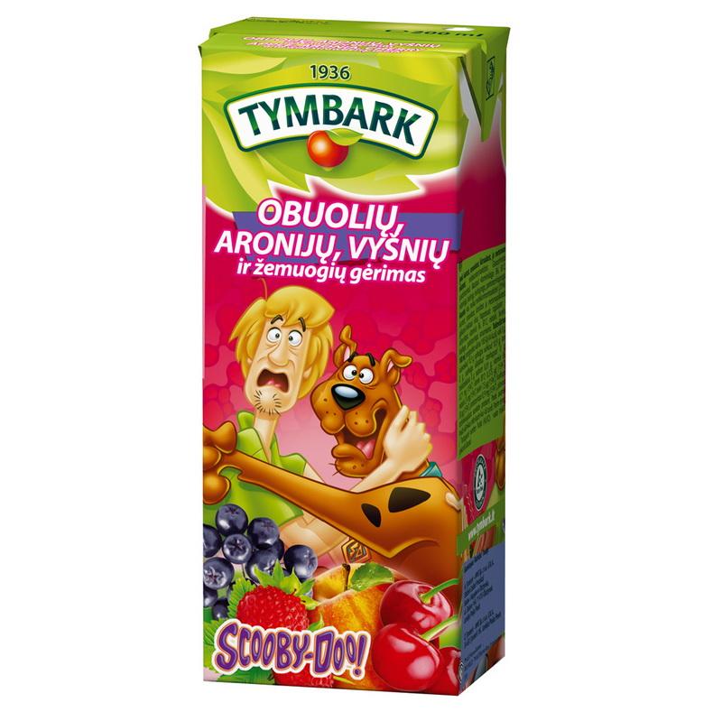 Ābolu-aronījas-ķiršu-zemeņu dzēriens Tymbark 200 ml