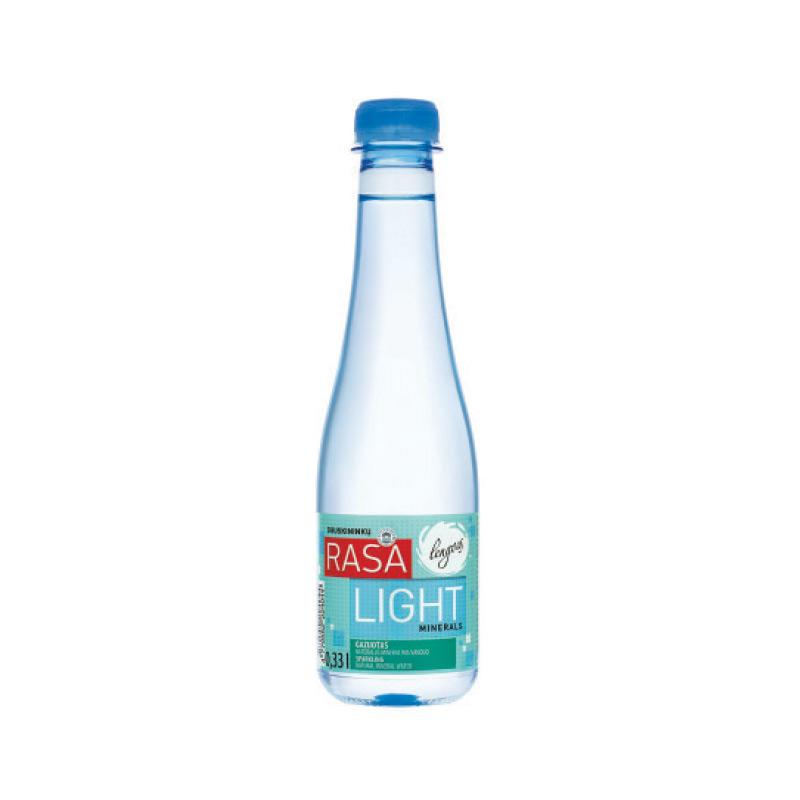 Minerālūdens RASA LIGHT, gāzēts, 0.33 L, plastmasas pudelē