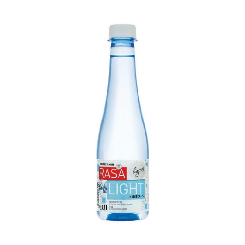 Minerālūdens RASA LIGHT, negāzēts, 0.33 L, plastmasas pudelē
