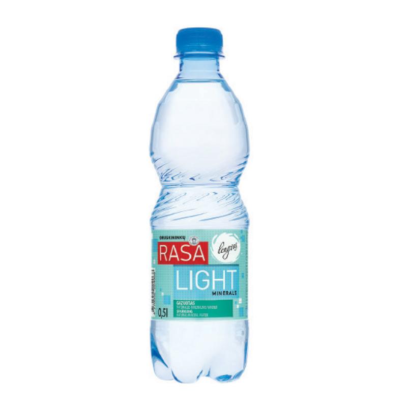 Minerālūdens RASA LIGHT, gāzēts, 0.5 L, plastmasas pudelē