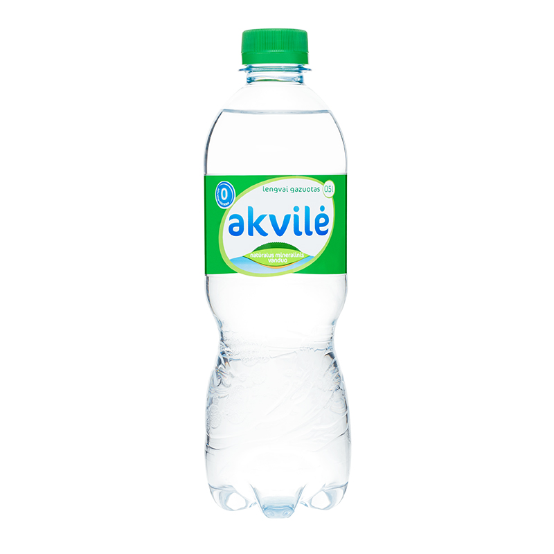 Dabīgs minerālūdens AKVILE viegli gāzēts, 0.5 L, plastmasas pudelē