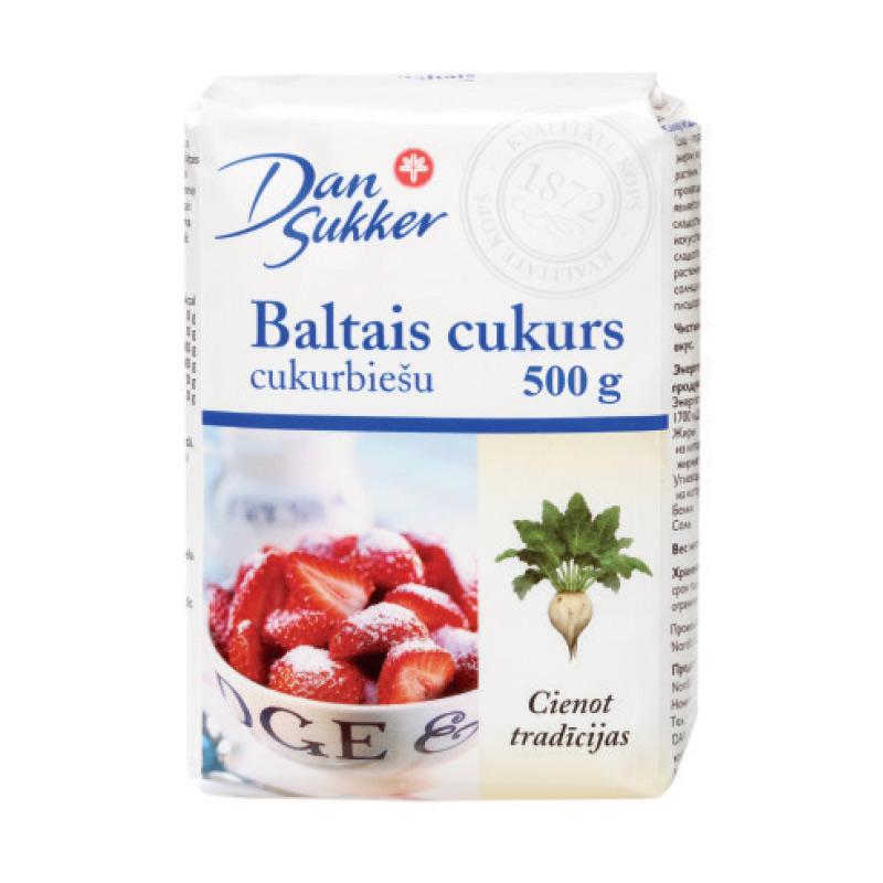 Cukurs DAN SUKKER, cukurbiešu, baltais, 500 g