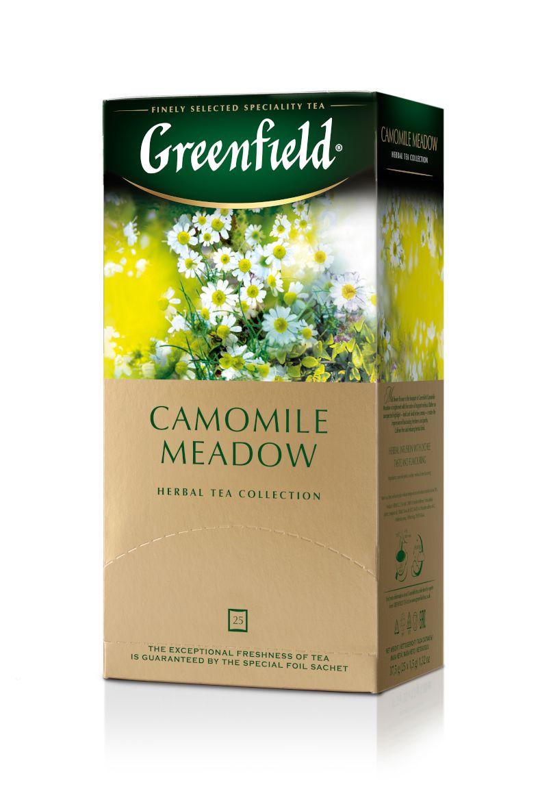Zāļu tēja GREENFIELD CAMOMILE MEADOW, 25 x 1.5 g maisiņi paciņā