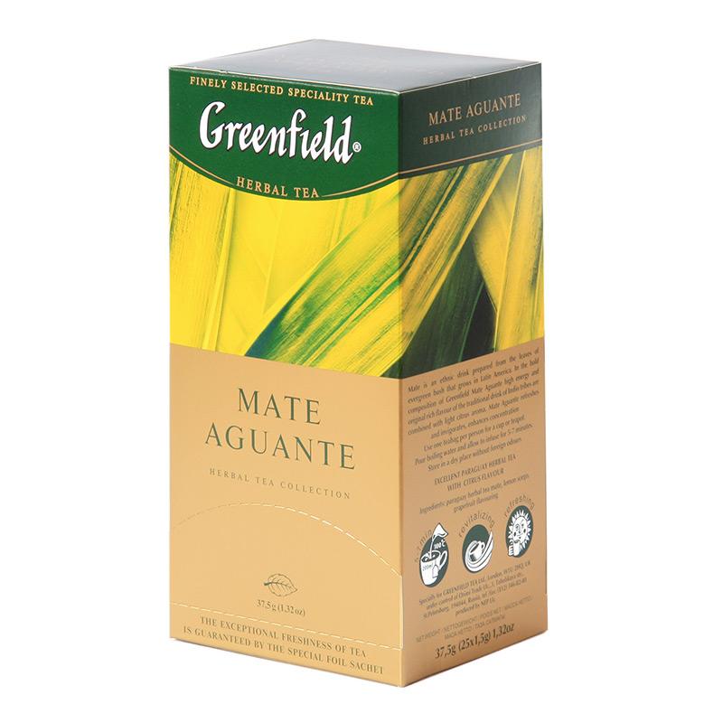 Zāļu tēja GREENFIELD MATE AGUANTE, 25 x 1.5 g maisiņi paciņā