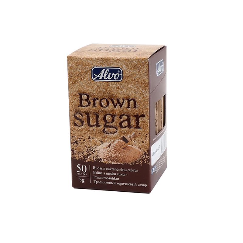 Cukura standziņas ALVO 5 g, brūnas, 50 gab./iepak.