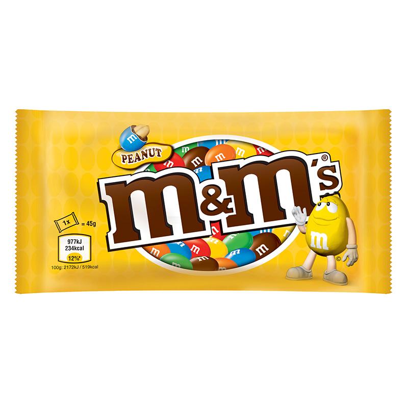 Dražejas M&M's Peanut, 45 g
