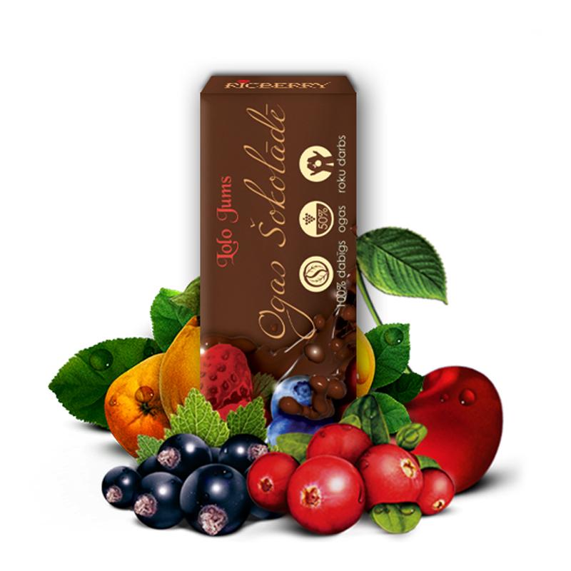 Ogas pienā šokolādē RICBERRY, 15 g