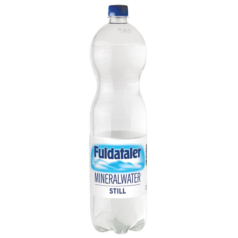 Minerālūdens FULDATALER, negāzēts, 1.5 L, plastmasas pudelē
