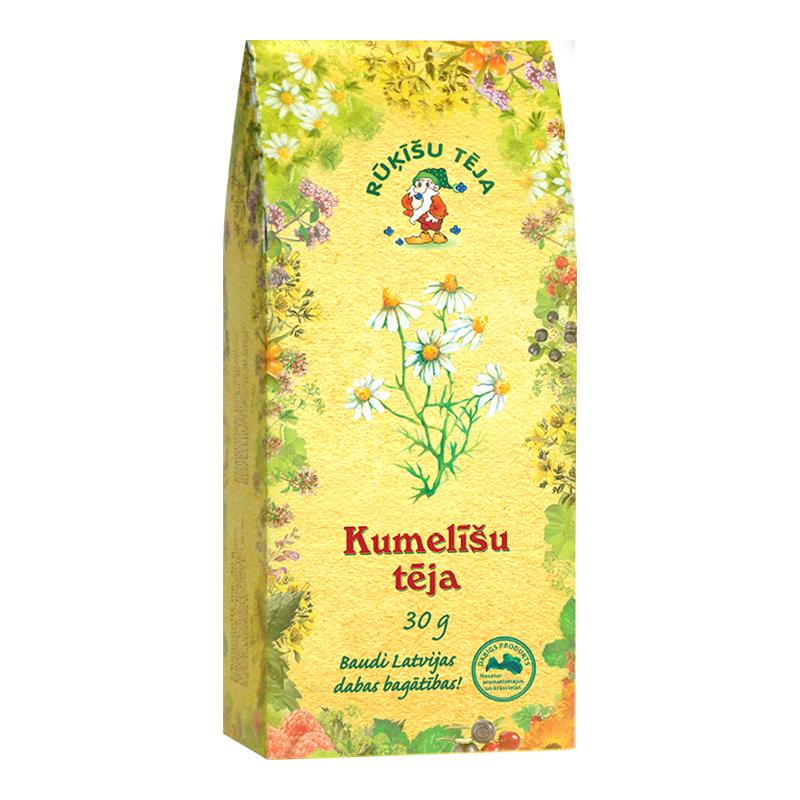 Beramā zāļu tēja RŪĶĪŠU Kumelīšu ziedu, 30 g