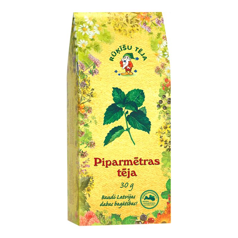 Beramā zāļu tēja RŪĶĪŠU Piparmētras, 30 g