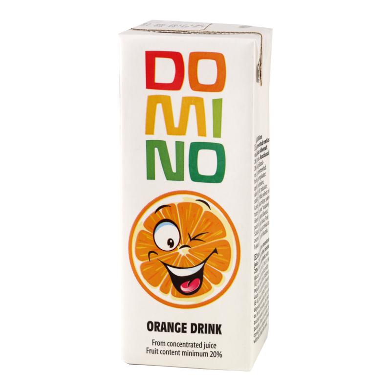Apelsīnu sulas dzēriens DOMINO, 200 ml