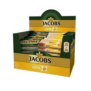 Kafija JACOBS, Latte, 12.5 g, 20 gab./iepak.