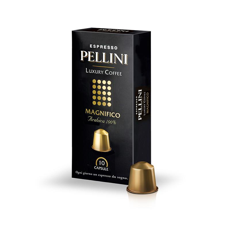 Malta kafija kapsulās PELLINI TOP Luxury Magnifico, 50g (10x5g), 10 gab/iepak