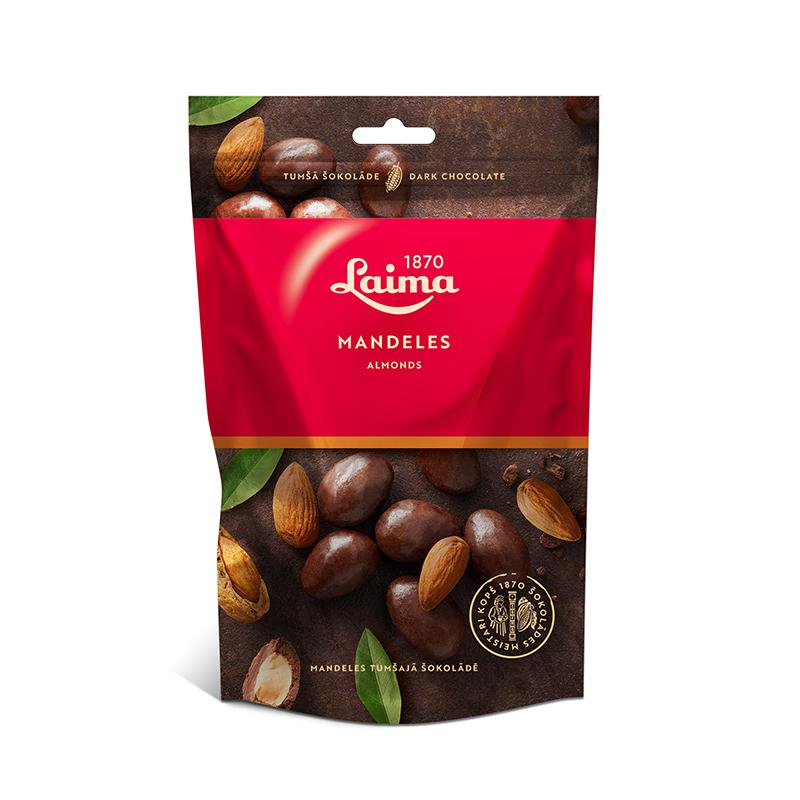 Mandeles tumšajā šokolādē LAIMA, 140 g