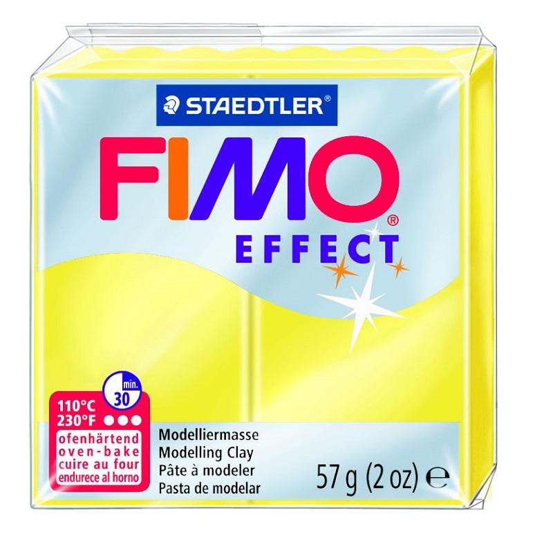 Cietējoša modelēšanas masa FIMO EFFECT, 56 g, caurspīdīgi dzeltenā krāsa (translucen yellow)
