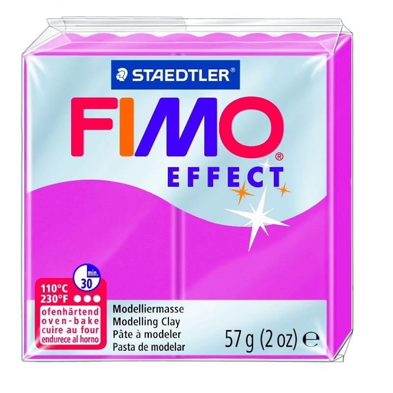 Cietējoša modelēšanas masa FIMO EFFECT, 56 g, pērļu baltā krāsa, metāliskā (metallic white pearl)