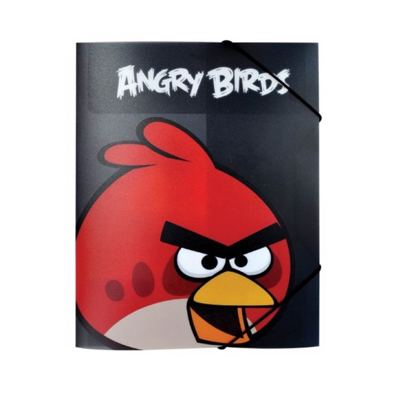 Mape Angry Birds, A4, melnā krāsā