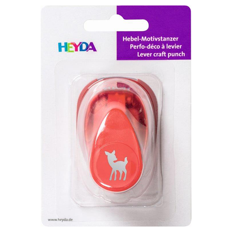 Perforators atklātnēm HEYDA DEER (stirnas mazulis) - figūriņu izgriešanai, 1.5 cm